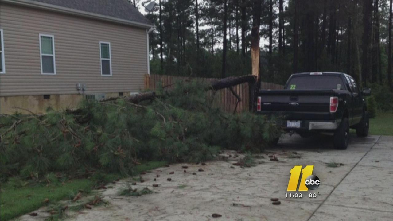 Parts of central North Carolina hit by strong storms