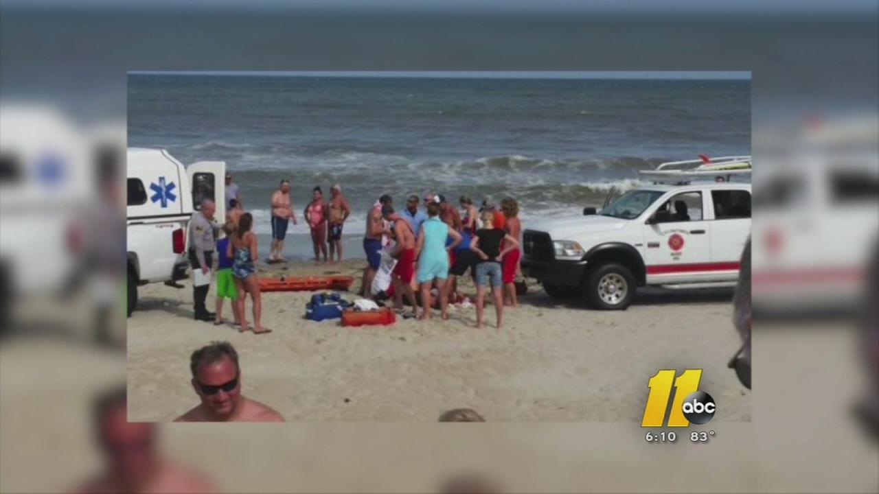 Shark attack victim in serious condition