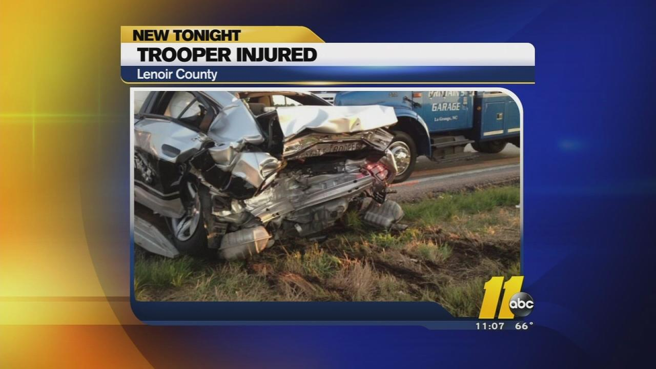 Trooper injured in Lenoir County
