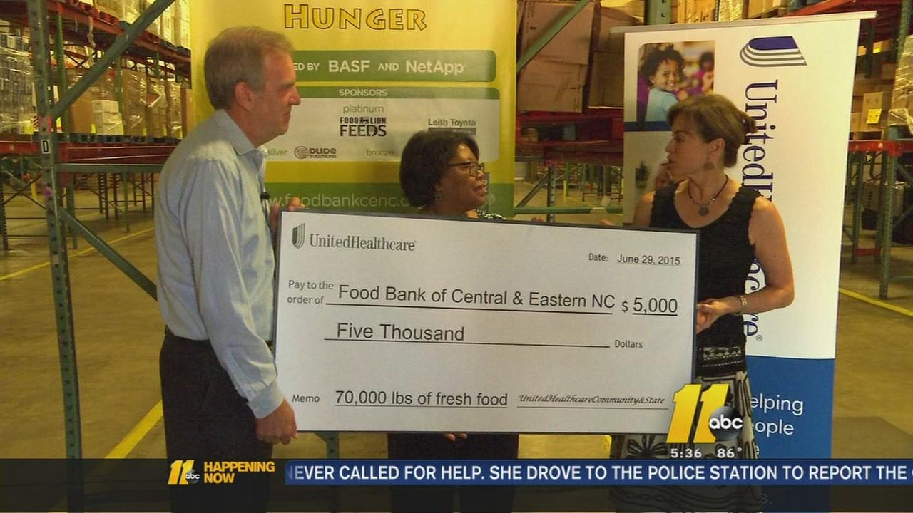 Food bank donation in Raleigh