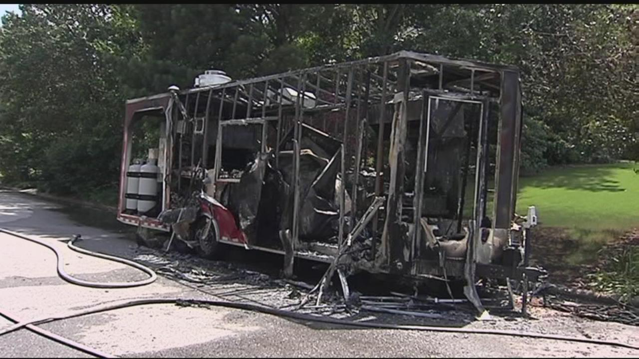 Food truck fire in Raleigh