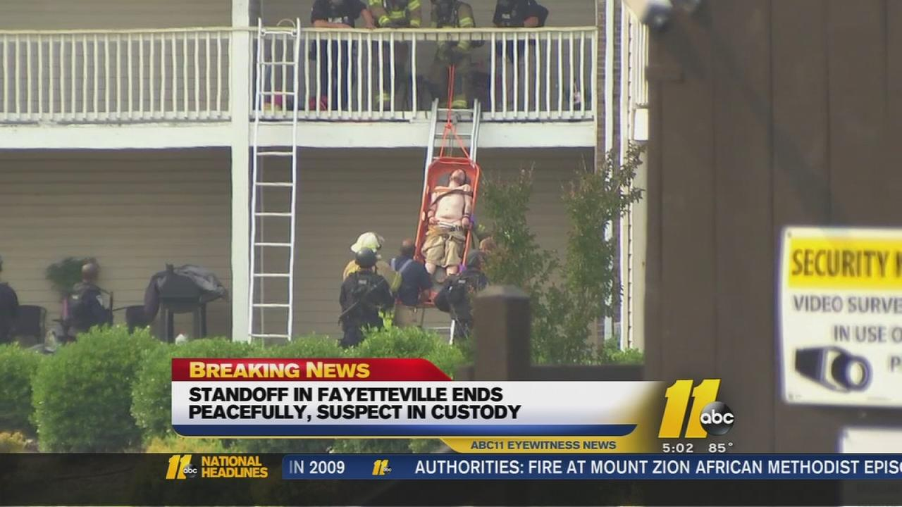 Fayetteville standoff ends peacefully
