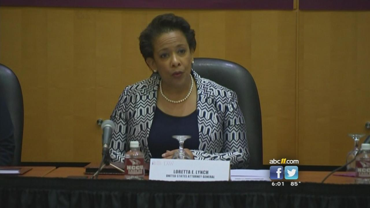 Loretta Lynch visits the Triangle