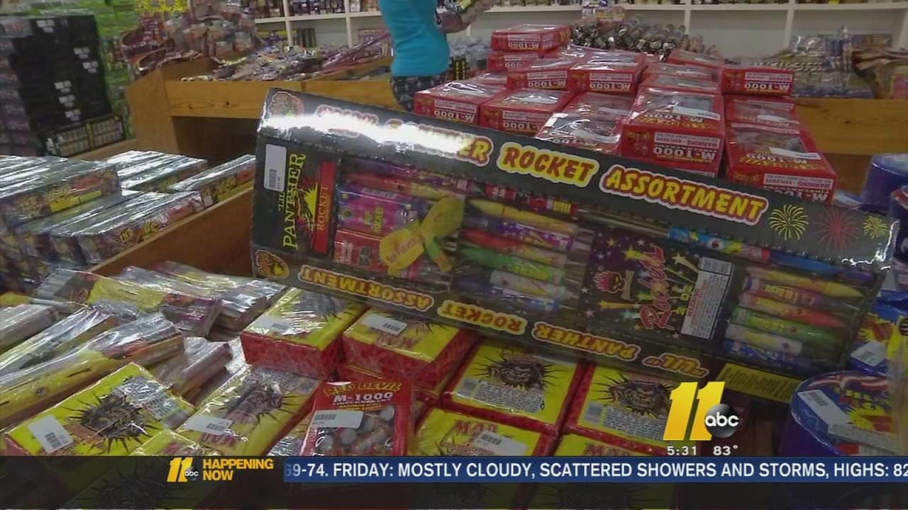 Fireworks for sale at South of the Border in South Carolina.