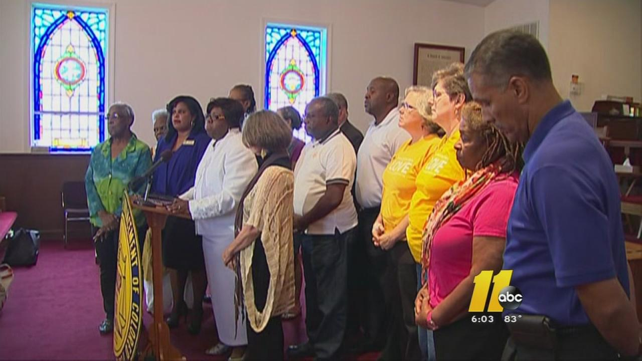 NAACP news conference in Garner