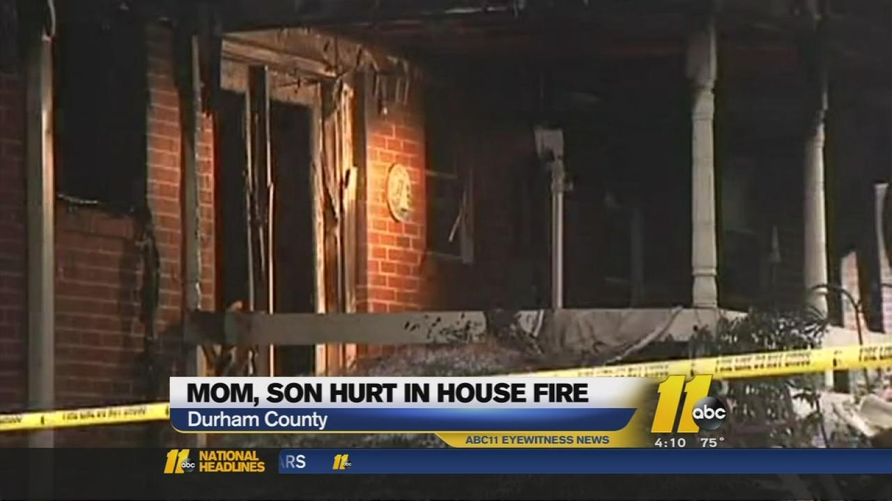 Two hurt in Durham County house fire