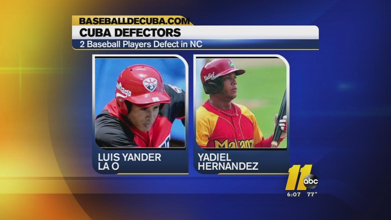 Cuban baseball players defect in NC
