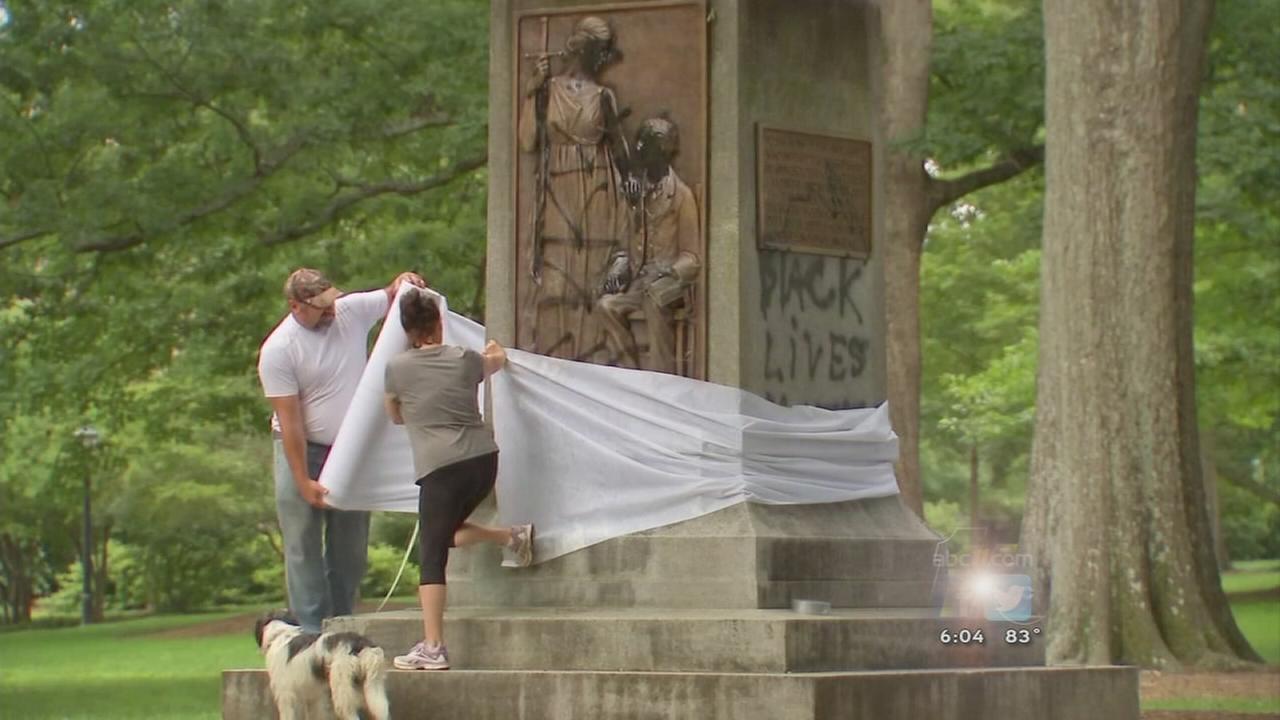 UNC statue vandalized