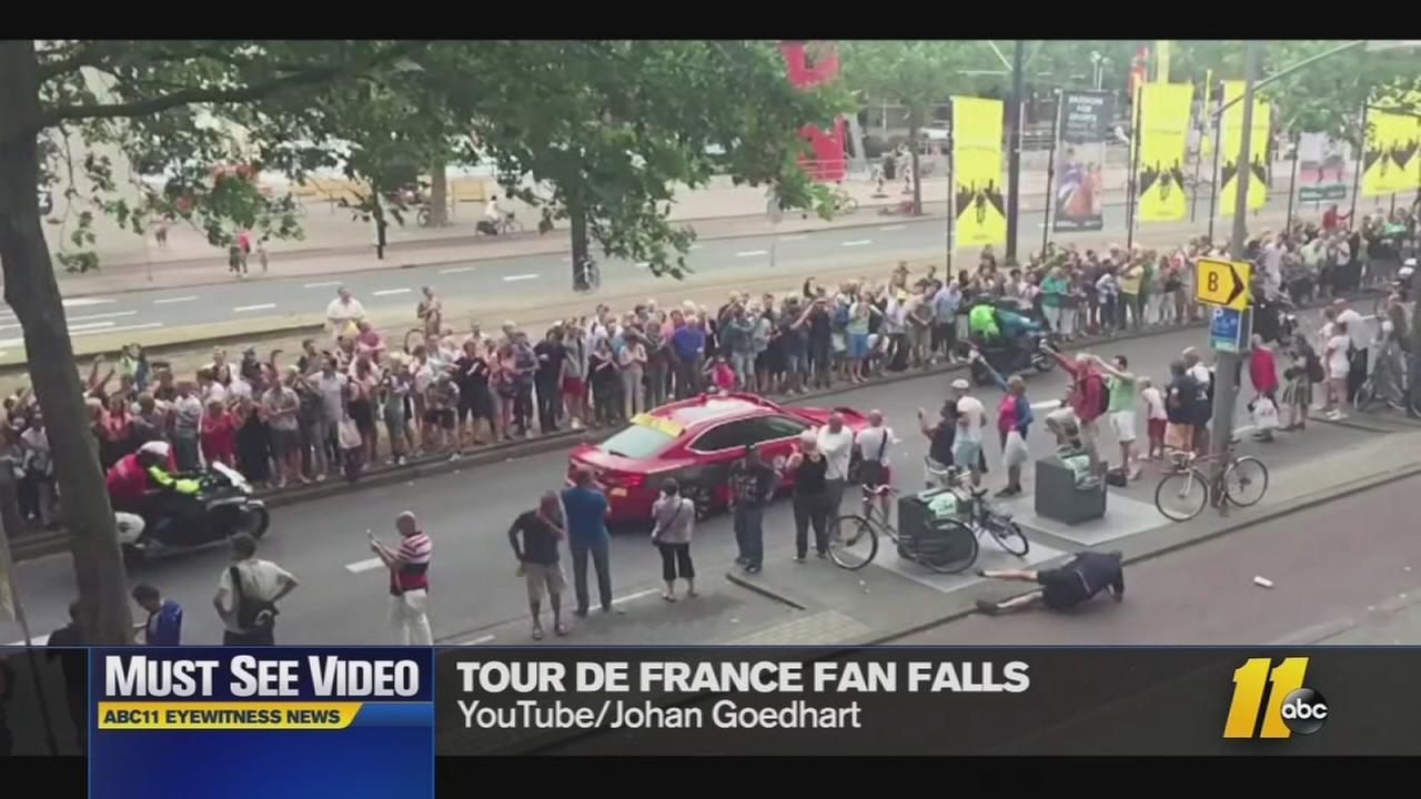 Tour de France fan fail