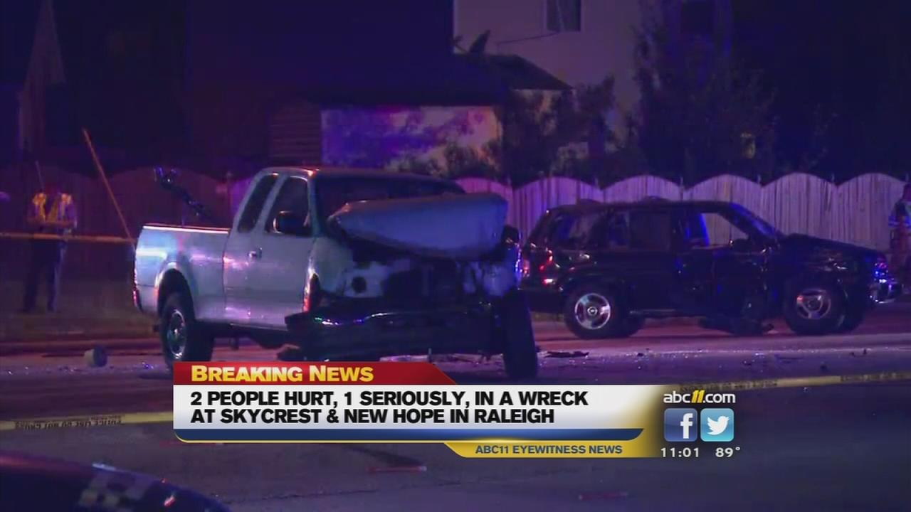 Serious accident leaves 2 injured in Raleigh