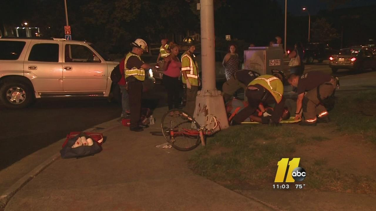 Child on bike hit by car in Durham