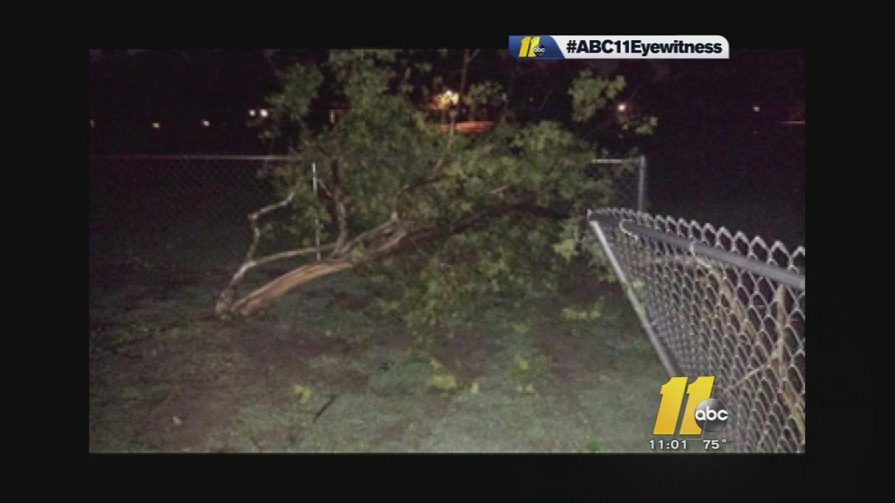 Showers, severe storms fire up across central North Carolina