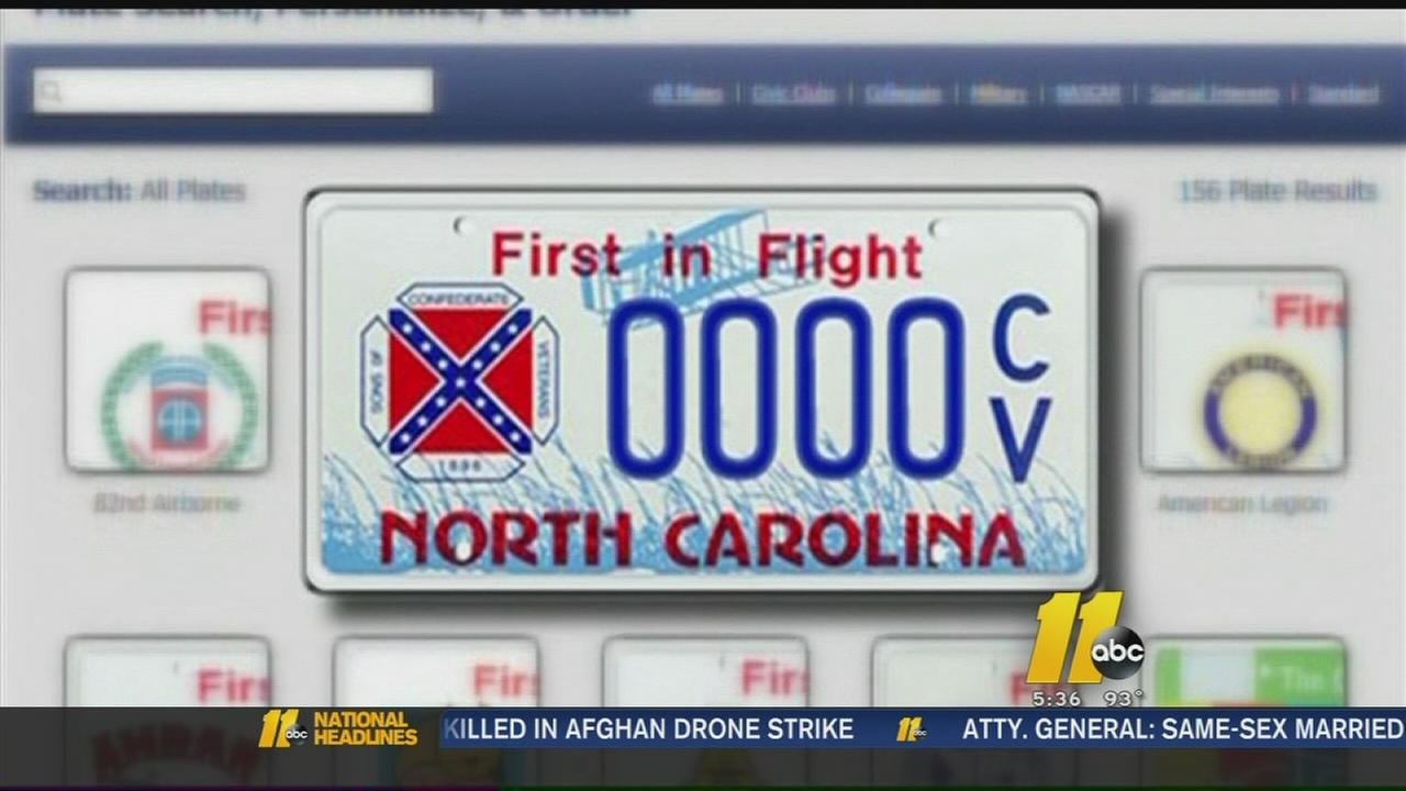 Confederate flag plates sell out