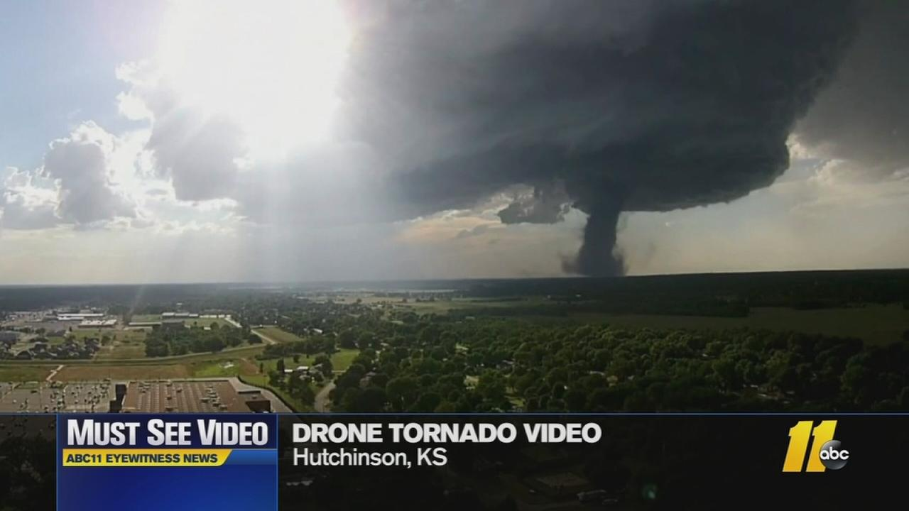Drone gets impressive video of tornado