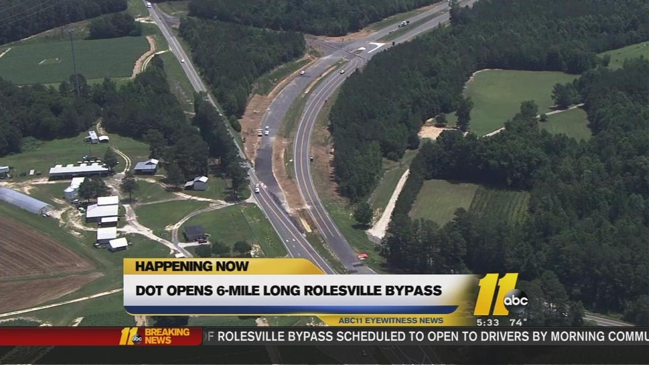 DOT opens 6-mile long Rolesville Bypass