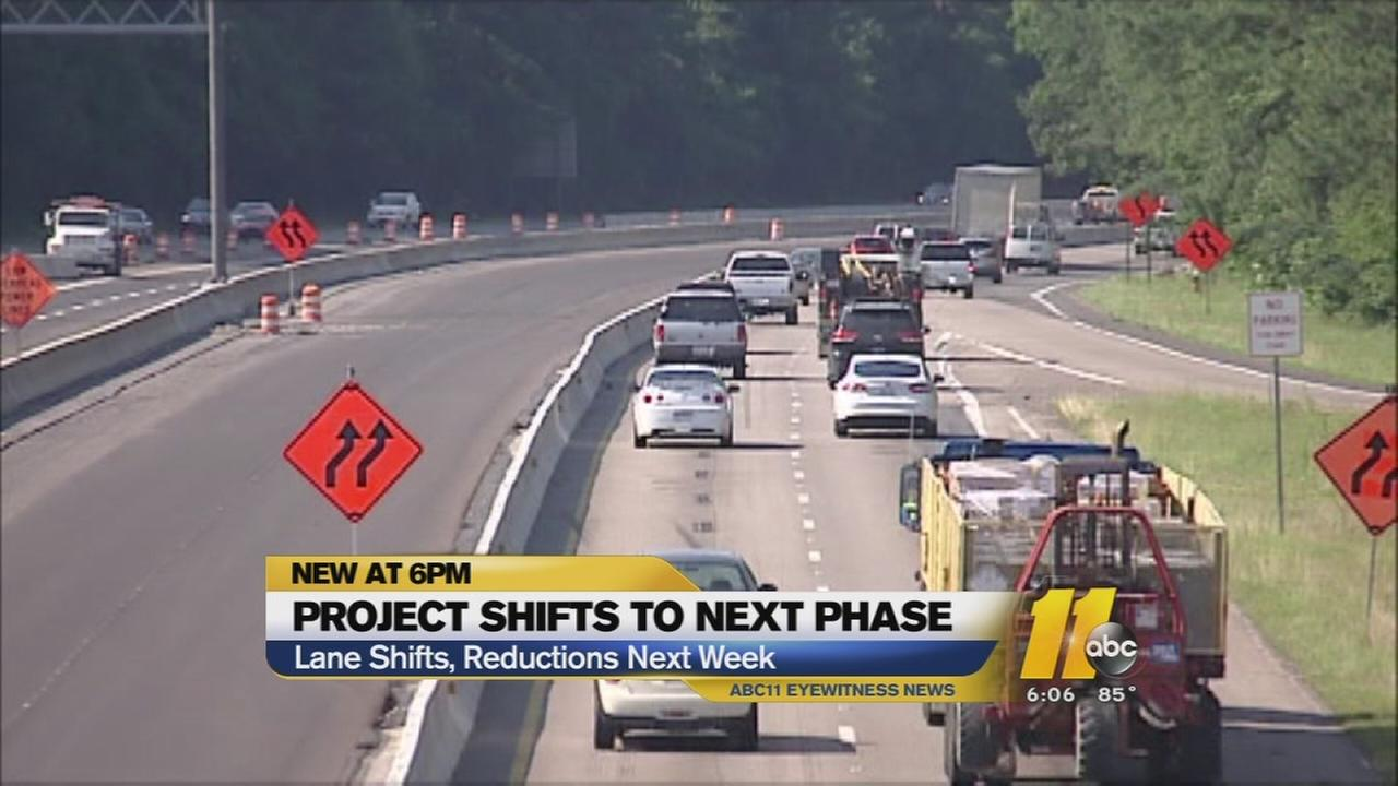 I-40/440 project shifts to next phase