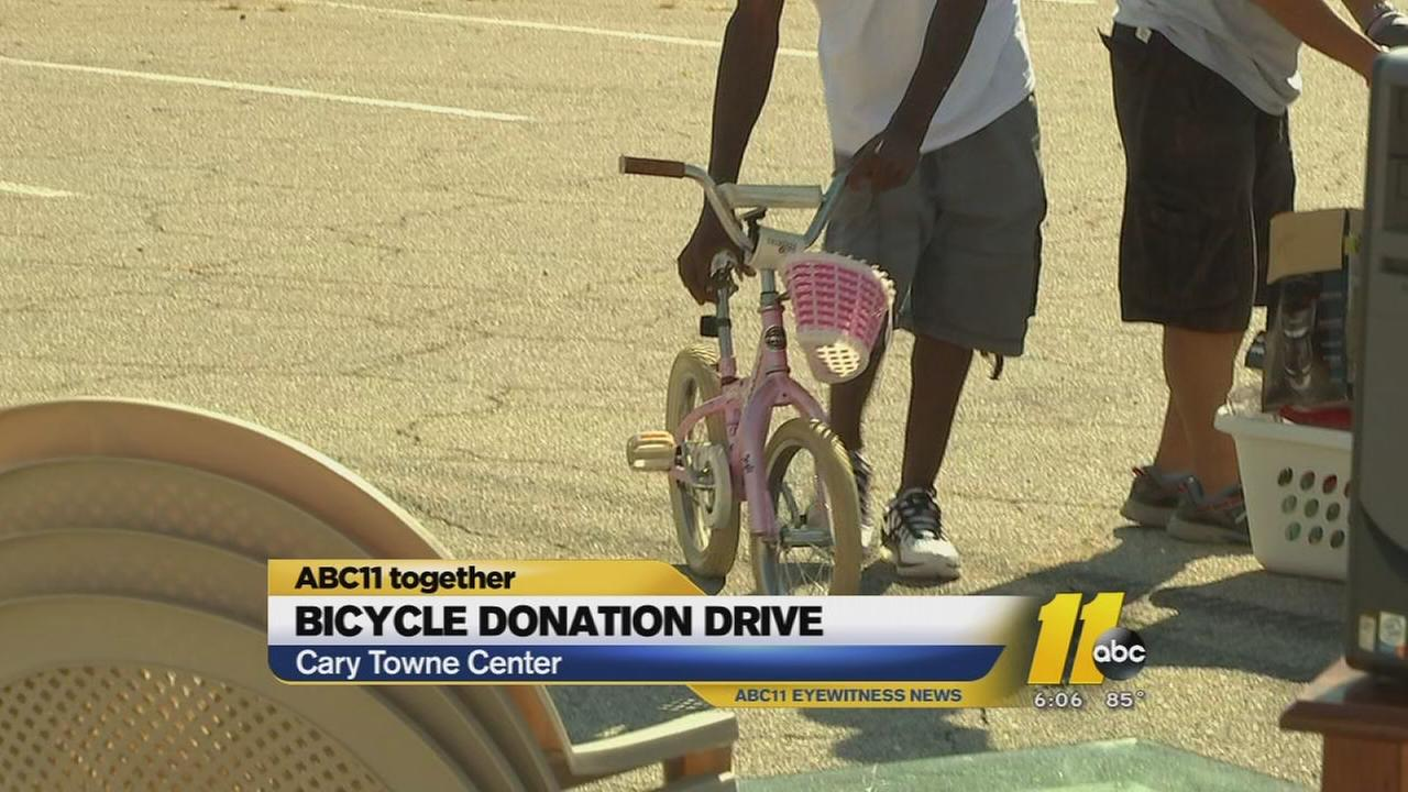 ABC11 Together: Bicycle Man collects for kids