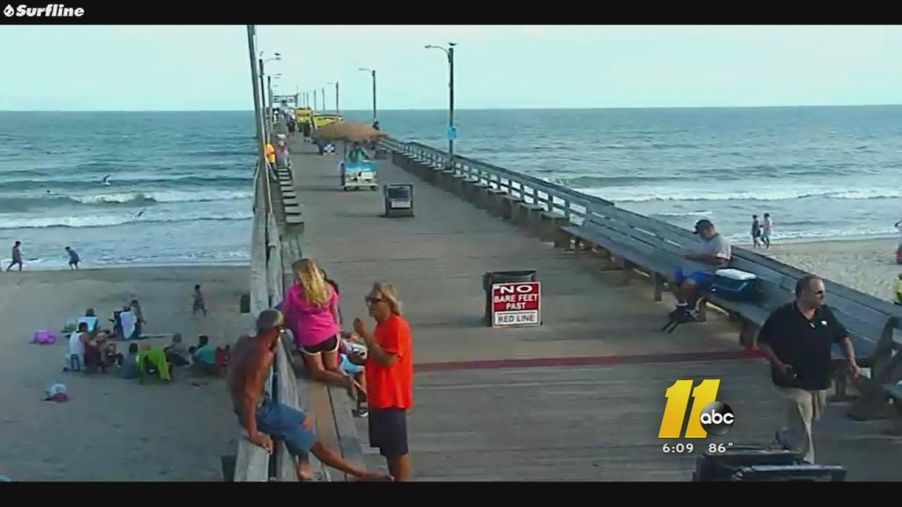 Raleigh man falls of Bogue Inlet Pier