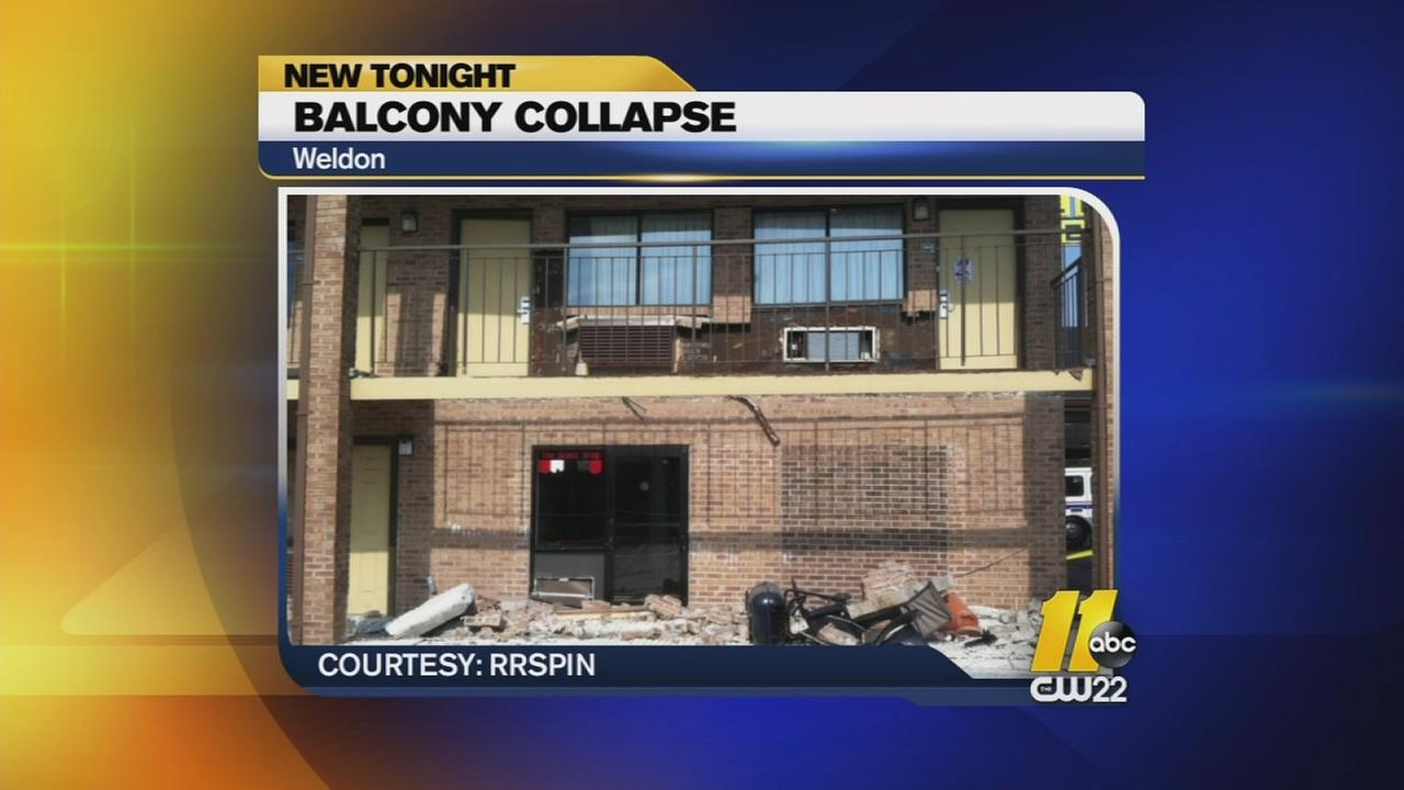 Balcony collapses at Weldon hotel