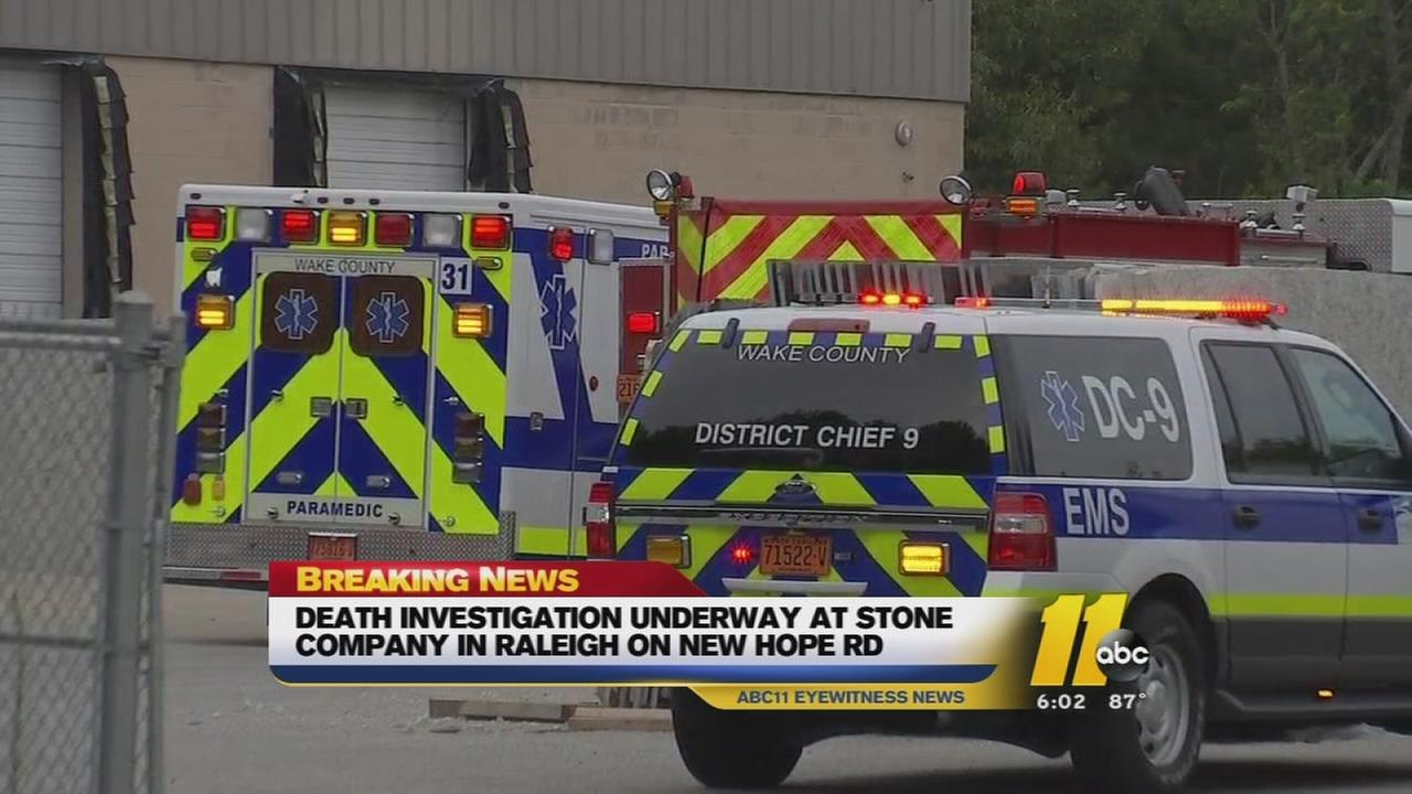 Death investigation underway at Raleigh stone company