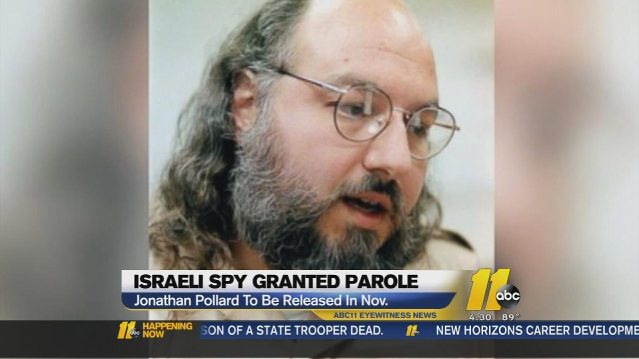 Apy Jonathan Pollard granted parole from NC prison