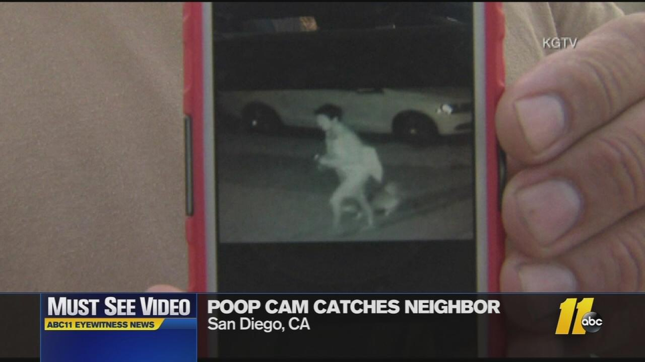 Man shames neighbor with poop cam