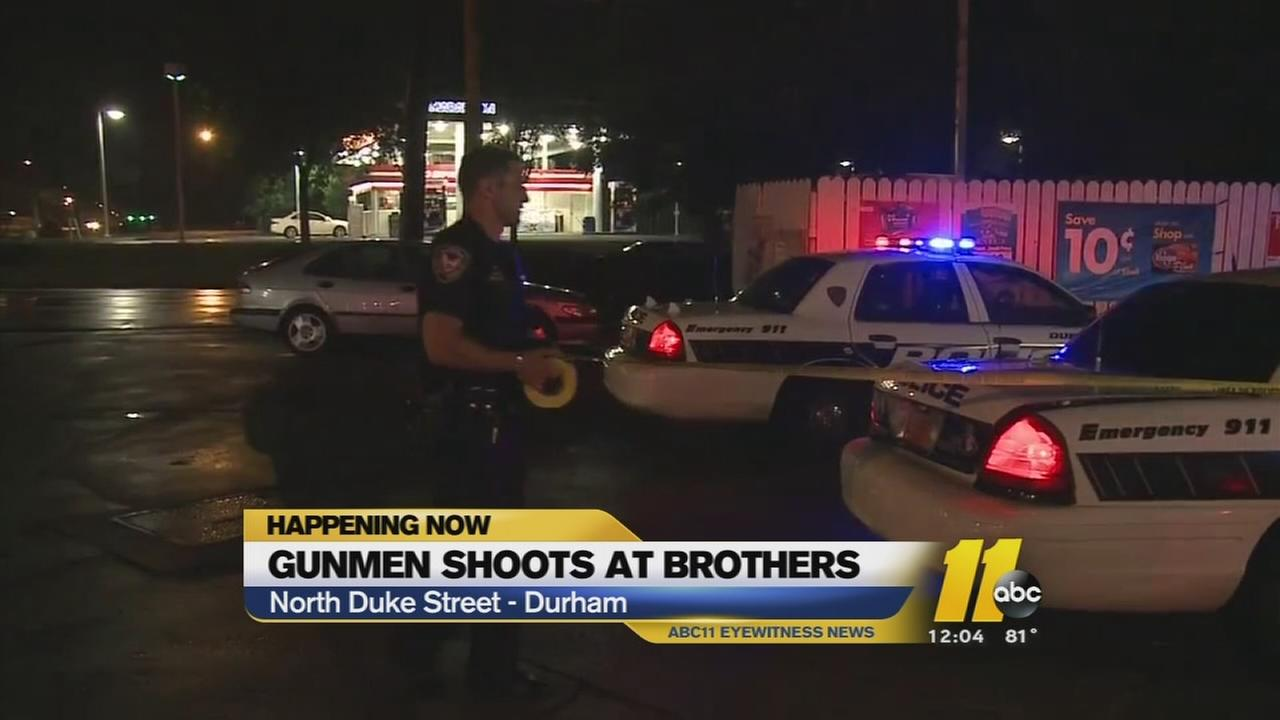 Gunman shoots at brothers