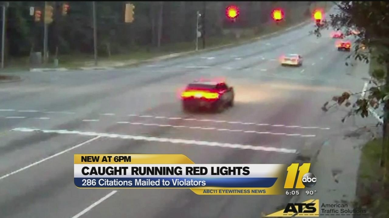 Drivers caught running red lights