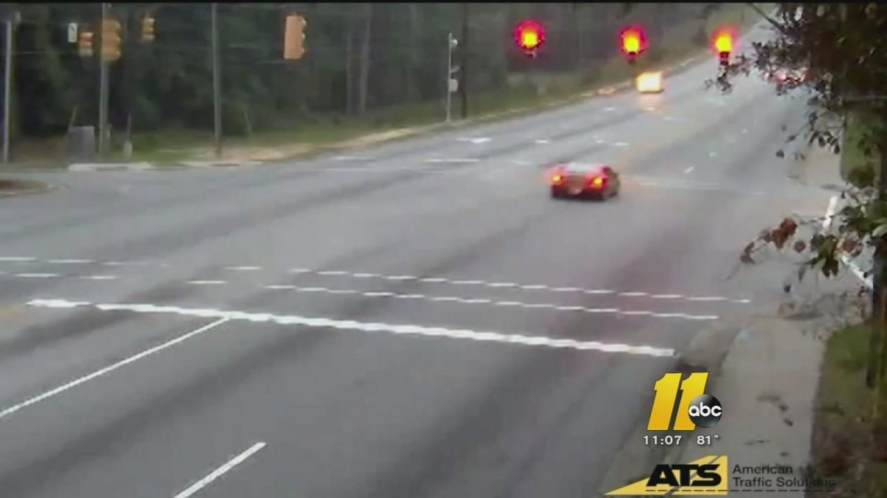 Drivers caught on red light camera