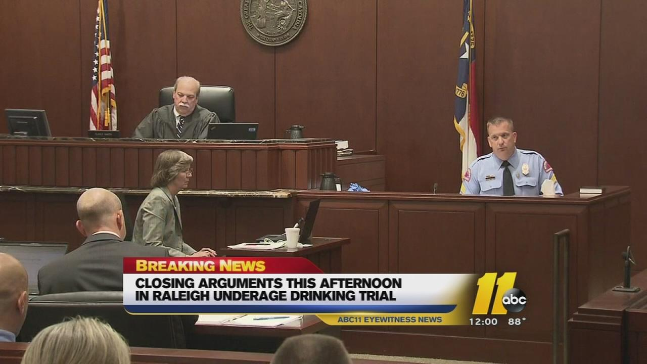 Closing arguments in drinking trial