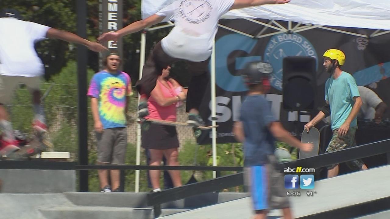 Skate park opens in Apex