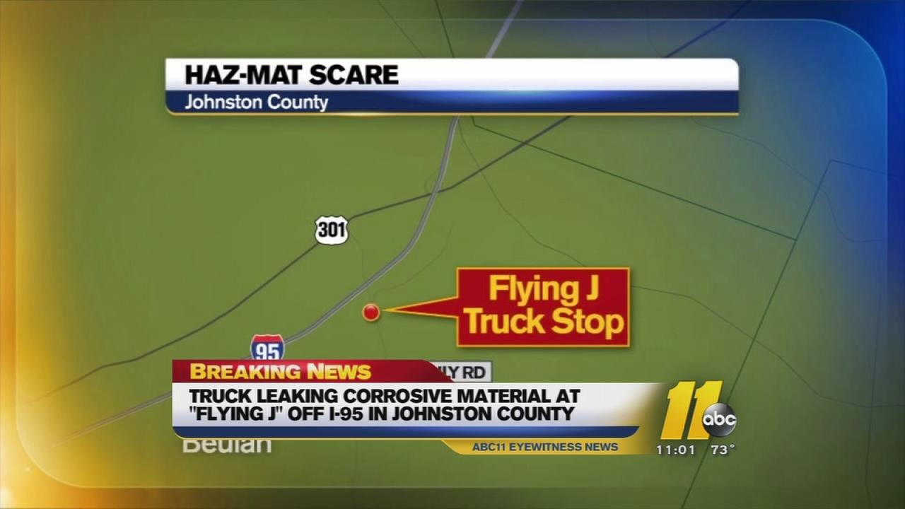 Hazmat scare in Johnston County