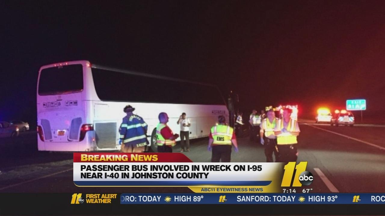 One person killed in bus crash in Johnston County