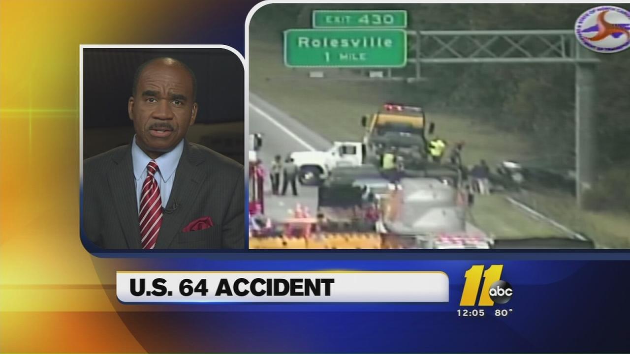 Accident blocks traffic on US 64