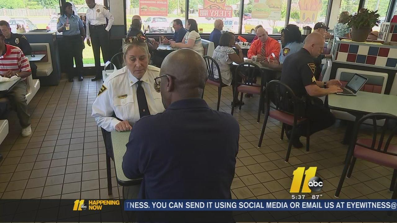 Coffee with a cop in Fayetteville