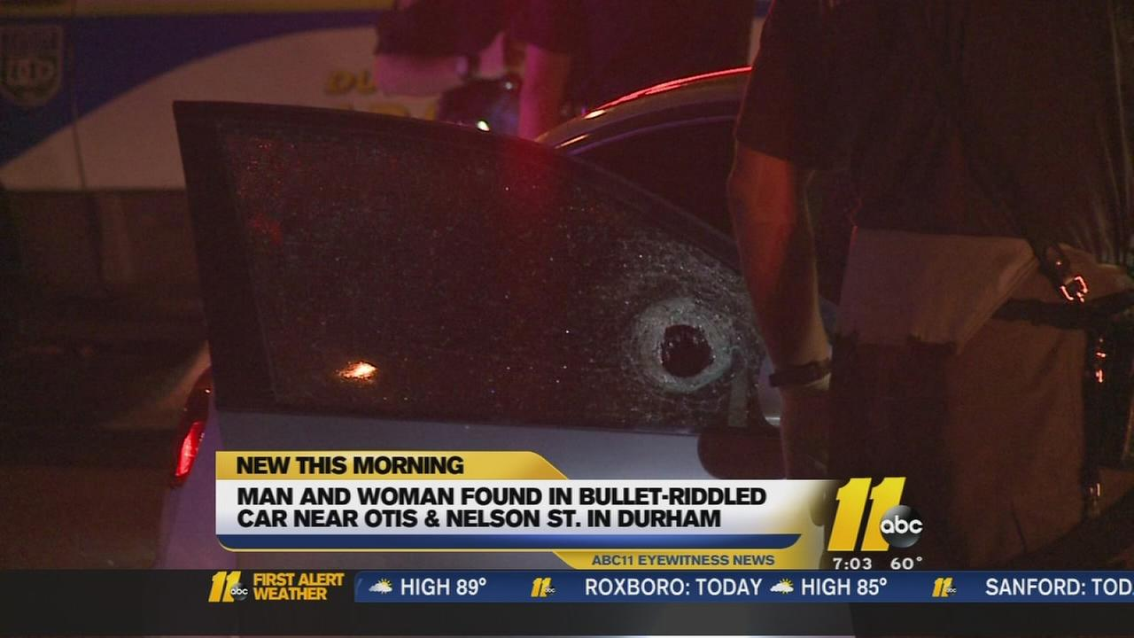 2 people found inside bullet-riddled car