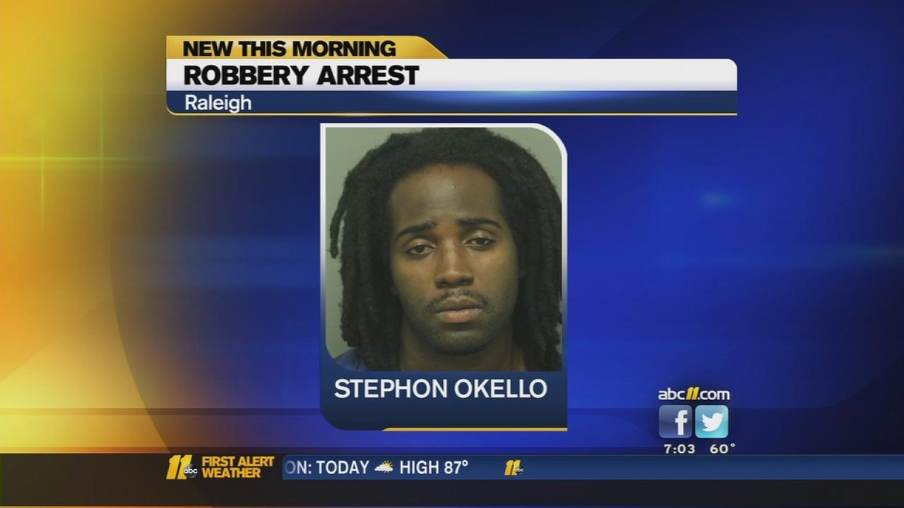 Suspect arrested after Raleigh armed robbery
