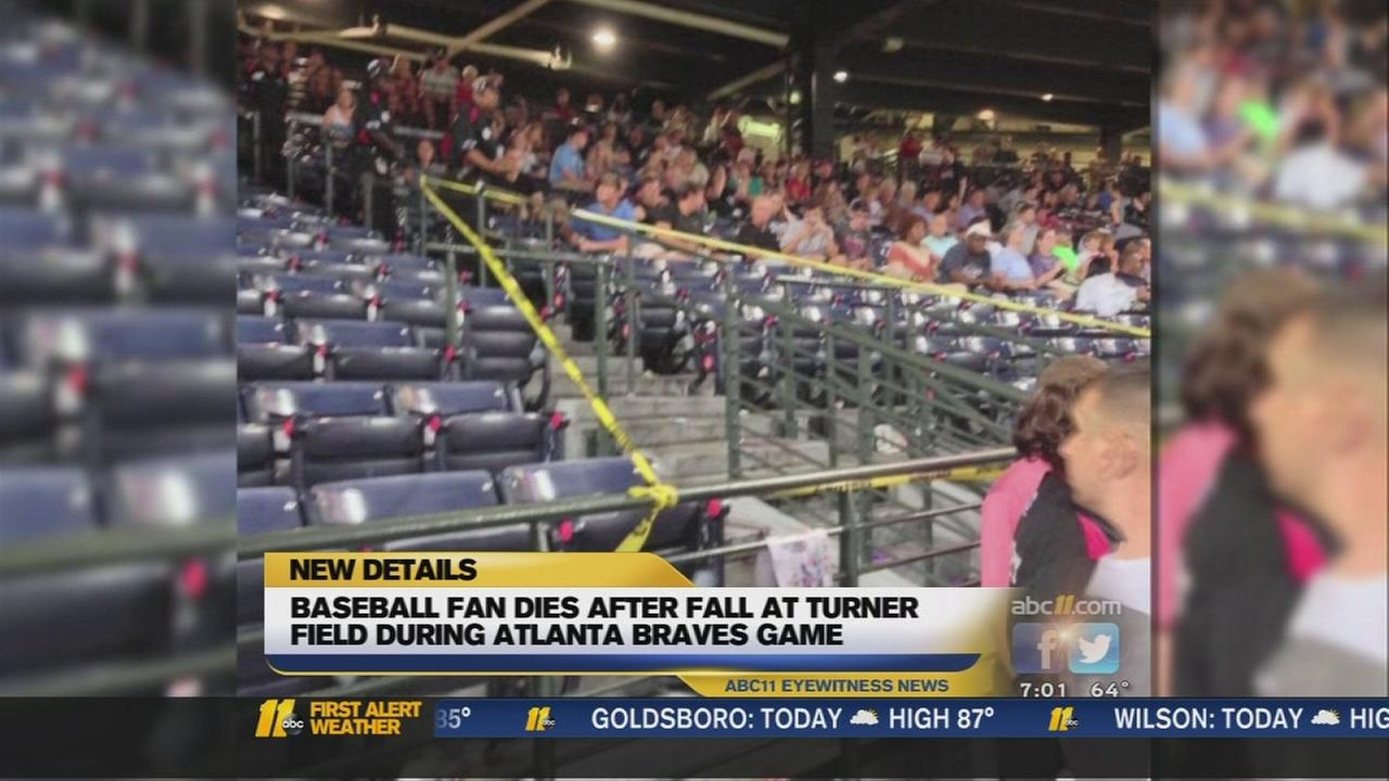 Fan dies after fall at Braves game
