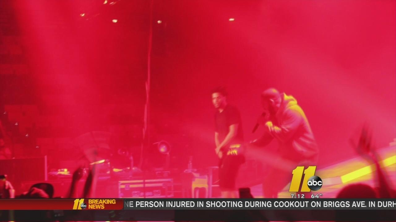 Big surprise for fans at the J. Cole concert