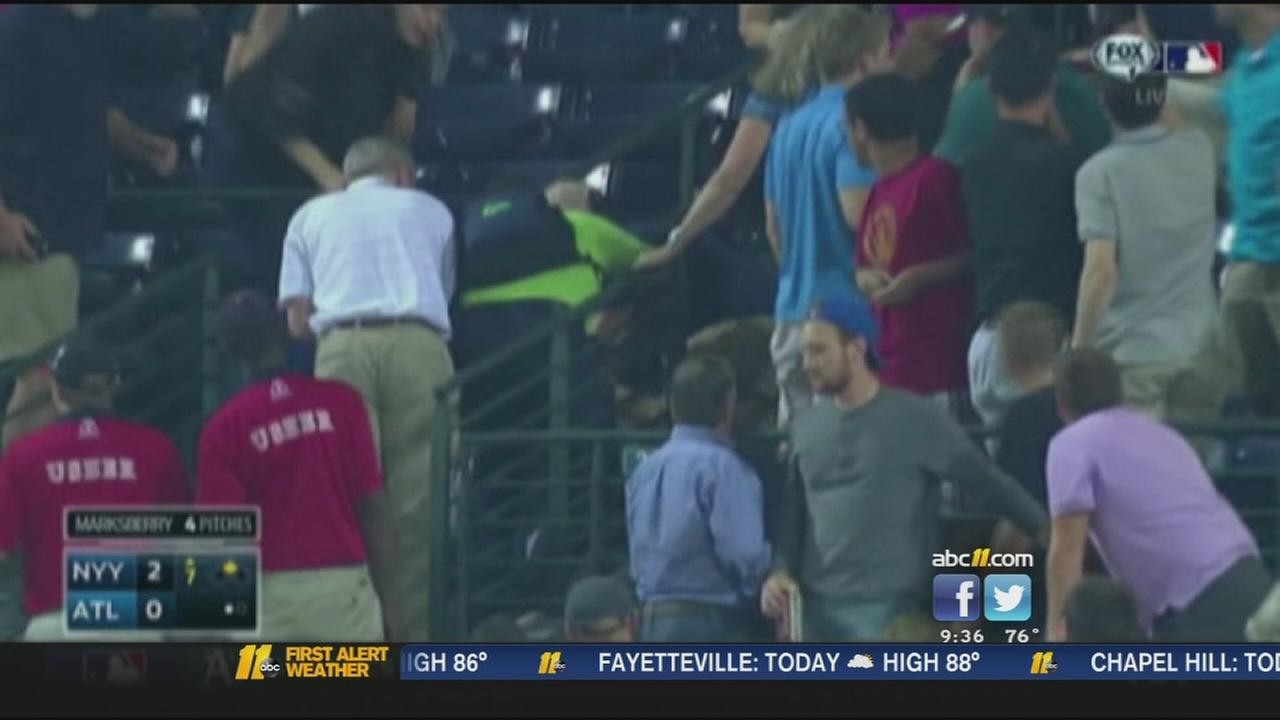 Fan who died after falling at Braves game identified
