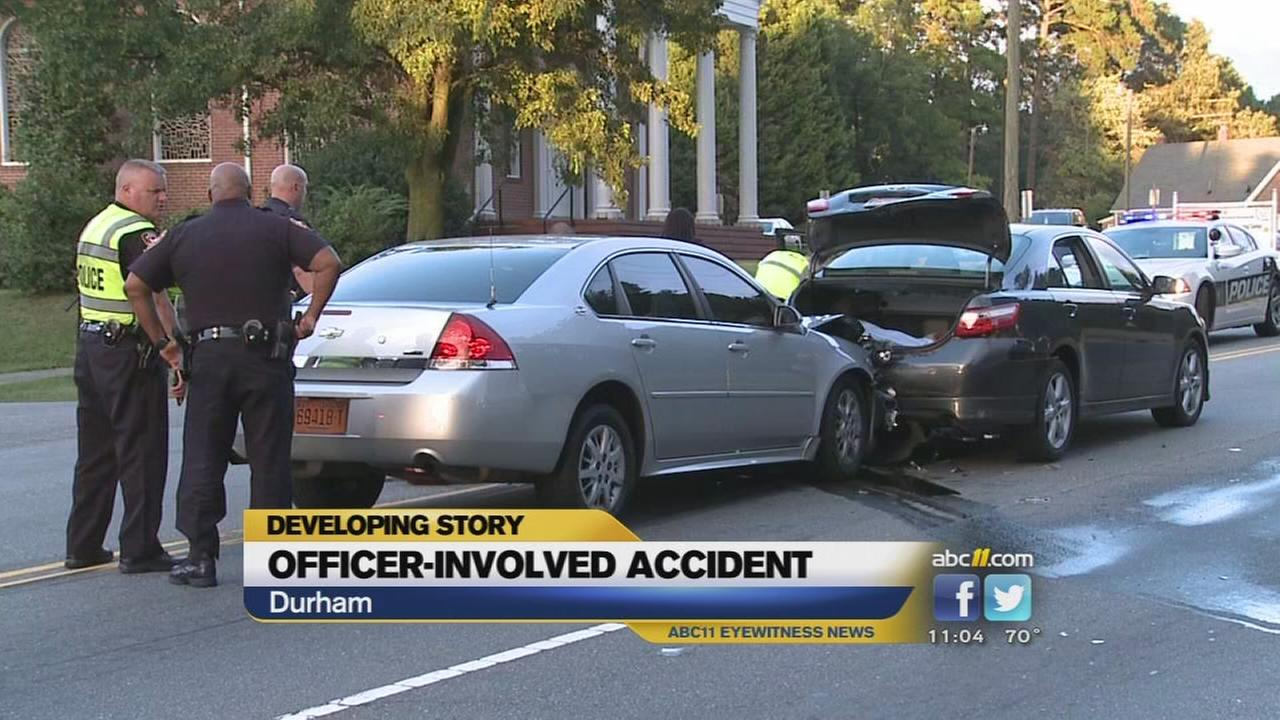 Police car involved in Durham crash
