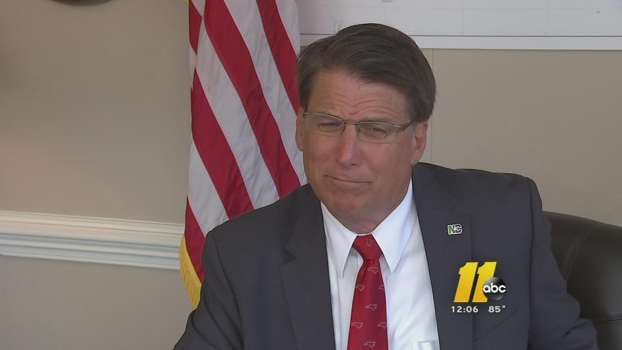 Gov. Pat McCrory addresses budget