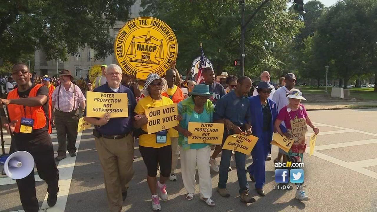 NAACP marches for voting rights in Raleigh