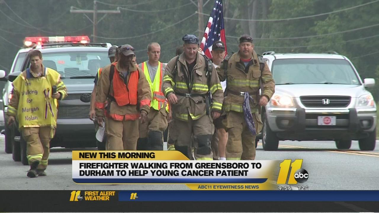 Firefighter walks from Greensboro to Durham