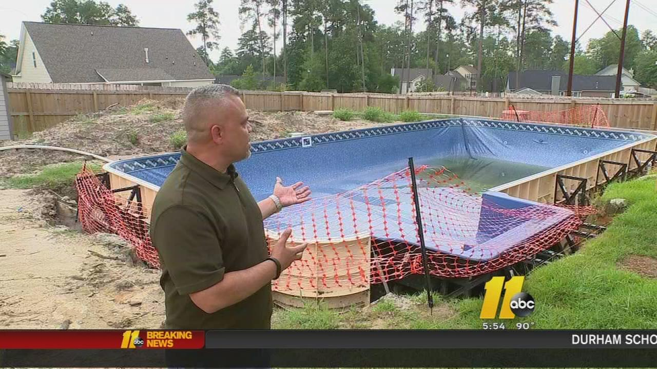 Dream of pool becomes nightmare for Fayetteville family | abc11.com