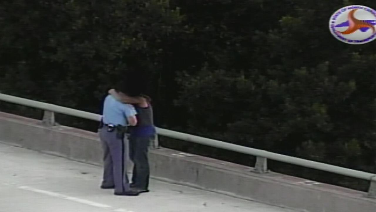 Raleigh police officer talks man off bridge