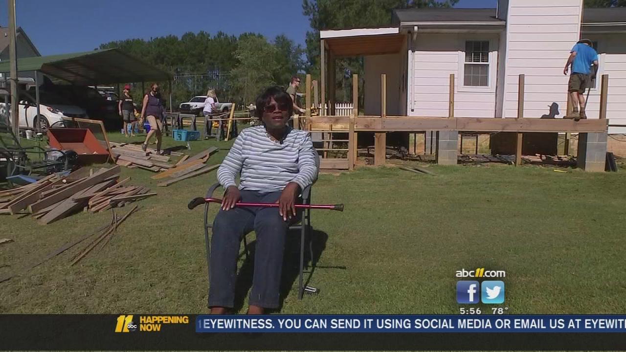 Contractors help homeowner rebuild