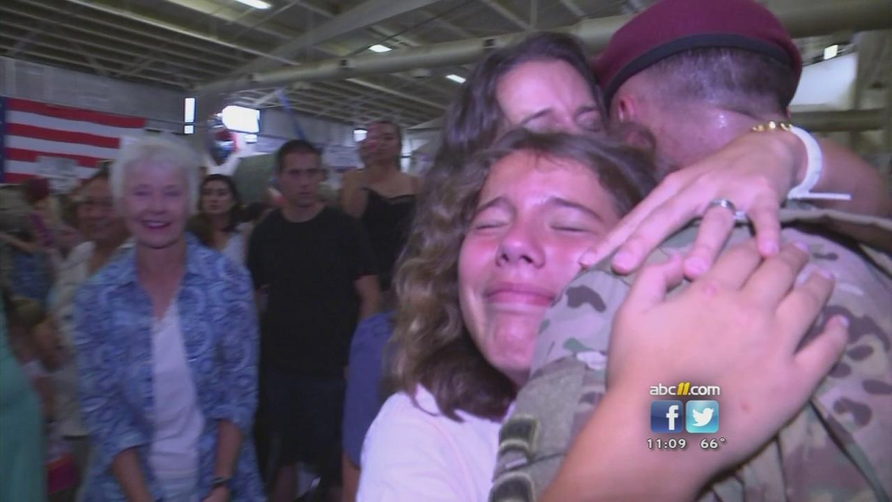 Paratroopers come home