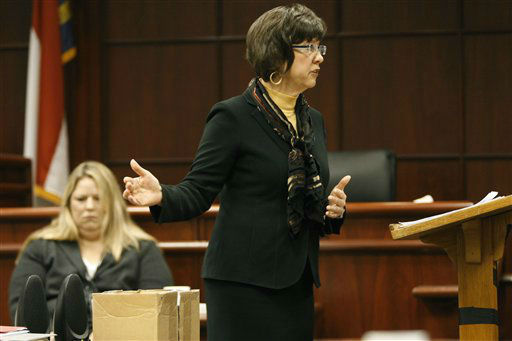 <div class='meta'><div class='origin-logo' data-origin='none'></div><span class='caption-text' data-credit='WTVD Photo/ AP Photo/ Shawn Rocco'>Assistant District Attorney Becky Holt makes opening remarks during Jason Young's retrial on Monday, Feb. 6, 2012 in Raleigh, N.C.</span></div>