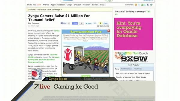 7Live: Click: Zynga raises $1 million for Japan relief